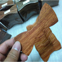 Wholesale Finish Business - Wood Bow Ties Semi-finished products 4 styles Handmade Vintage Traditional Bowknot For Gentleman Wedding Wooden Bowtie Father's day