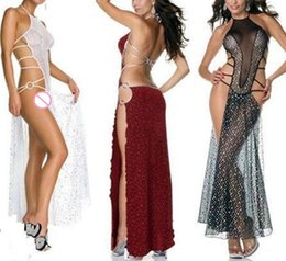 Wholesale See Sex - Sexy lingerie Sexy Set sexy costumes slips intimates women Backless dress split nightclub performance clothing underwear sex products
