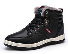 Wholesale Leather Man S Boots - Men 's men' s snow boots warm men 's cotton shoes students boys winter winter velvet large children' s winter shoes 45 yards