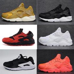 Wholesale Air 45 - 2017 Original quality Air huarache triple white black huarache men & women shoes sports sneaker For online hot sale Free shipping size 36-45