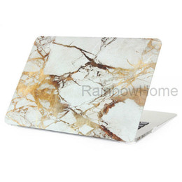 Cassa per macbook air 13 pollici online-Design in granito di marmo Custodia in plastica di cristallo Custodia protettiva Custodia protettiva per MacBook Air Pro Retina 11 13 Esempio di custodie per decalcomanie da 15 pollici