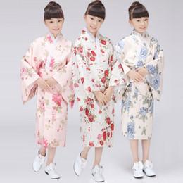 Wholesale Cheap Japanese Clothes - cheap Japanese kimonos traditional kimono dress girl long kimonos gown bathrobe cosplay dance clothing