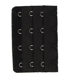 Wholesale Row Pack - Wholesale-8 Pack 5 Pcs Black 4 Rows Hook and Eye Tape Bra Strap Extender