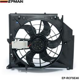 bmw e46 325i Desconto EPMAN-Ventilador De Refrigeração Do Radiador (Motor Sem Escovas) Para BMW Série 3 320 323 325 328 330 I Ci Xi E46 99-06 Ventilador Do Radiador EP-RCFSE46