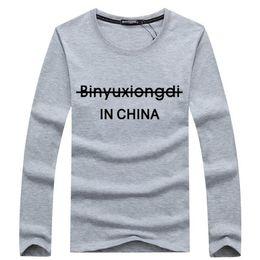 2019 china asien Heißer Verkauf neuer Frühling hoch-elastischer Baumwolle T-Shirts Langhülse Oansatz T-Shirt der Männer geben freies CHINA-PFOSTEN Verschiffen Asien S-XXXXXL frei günstig china asien
