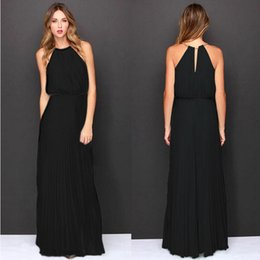 Wholesale Dress Spotted - 2016 new European sleeveless dress pleated Fashion Sexy Halter explosion spot wholesale A sleeve dress 0058