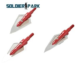 Composto arcos on-line-3 Pcs / Lot Hunting Shotting Dicas de seta de cabeça larga 3 lâminas Arco-íris de alumínio Arco-íris Cabeça de seta 100grain Fit Compound Bow or Crossbow order $ 18no