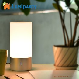 Wholesale 256 Led Light - Wholesale- LumiParty LED Light Touch Sensor Table Bedside Lamp Dimmable 256 RGB Color Changing Aluminum Base Illumination Mood Night Light
