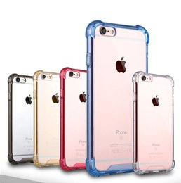 Wholesale Hard Plastics - For iphone X 8 plus Crystal Transparent Clear TPU Bumper 360 full Protector Acrylic Shockproof Hard Cases Cover for iPhone7 7 6 6s