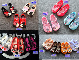 Wholesale Baby Girls Flower Sandals - Mini Melissa Shoes 2016 Summer girls Sandals Clogs Cute Girls shoes Children Mitch Baby Shoes For Girl shoes size EU24-29 mini melissa