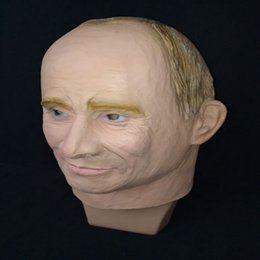 Wholesale Halloween Rubber Face Masks - Russian President Vladimir Putin Latex Mask Full Face Halloween Rubber Masks Masquerade Party Adult Cosplay Fancy Costume Props