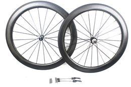 Wholesale 58mm Road Bike - New Dimpled golf Surface 58mm Clincher carbon road bike wheels carbon bicycle Wheelset carbon hub R36 basalt brake surface width 25mm