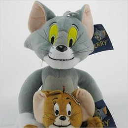 Wholesale Tom Jerry Toy Set - tom and jerry 2pcs set Tom and Jerry Mouse Plush Toys Cute Animal Stuffed Plush Dolls for Kids Gifts