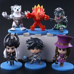 Wholesale hot boys toys - HOT League of Legends Action Figures all heroes 10cm PVC Figure Toys As a souvenir for the boy decorate the room the car