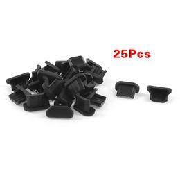 Wholesale Ear Jack Covers - Wholesale-5x 25 Pcs Anti Dust Soft Plastic Dock Cover Micro USB Port Ear Jack