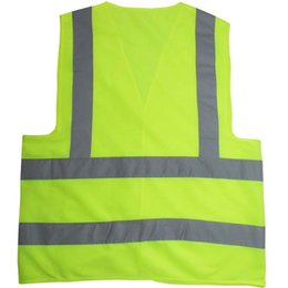 Wholesale Road Safety Vest - Reflective Safety Clothing Worker Clean sanitation highway road traffic reflective warning vest high light reflective vests