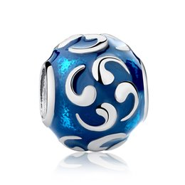 Wholesale Sterling Silver 925 Turquoise Bracelets - Genuine 925 Sterling Silver Charms Turquoise Comma for DIY Beaded Charm Bracelets & Necklaces S351