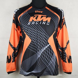 Wholesale Motocross Long Sleeve T Shirts - Brand-New KTM Motocross T-shirts Mountain Bike Bicycle Cycling Jersey Quick Dry Motorcycle perspiration wicking long sleeve T-shirts