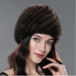 Wholesale Mink Hat Pineapple - 05 Winter mink fur hat for women genuine natural fur Pineapple cap Russian beanies hat fashion good quality thick warm fur hats