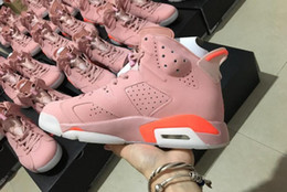 Wholesale Perfect Day - Top Quality Air Retro 6 Millennial Pink Men Basketball Shoes Perfect Quality 6s Basketball Sneaker Athletic Sport Trainers With Box