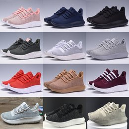 Wholesale Increase Knitting - 2017 High Quality Mens Womens Originals Tubular Shadow Knit Core Black White Cardboard Sneakers Running Shoes 350 boost 3D Sneakers 5-11