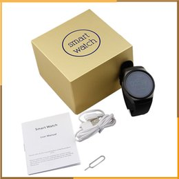 Wholesale Mobile Heart Rate Monitor - KW18 Smart Watch Heart Rate Monitor Bluetooth 4.0 Smartwatch MTK2502C Siri & Gesture Control For iOS Andriod mobile