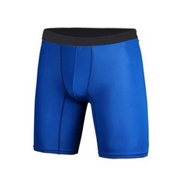 Wholesale Men Tight Football Shorts - Wholesale-Quick Dry Men Base Layer Cycle Tight Skin Compression Sport Shorts Basketball FootBall Running TQ