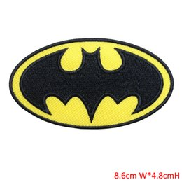 Wholesale Super Hero Clothes - SUPERHERO SUPER HERO BATMAN BAT MAN EMBROIDERY IRON ON PATCH BADGE FOR CLOTHING AND BAG