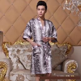 Wholesale Plus Size Silk Pajamas - Wholesale-Hot silk men's pajama sets men sleepwear male sleep lounge Pijamas Couples Robes Nightwear pajamas female pyjamas Plus size