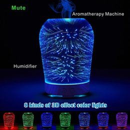 Wholesale Ce Options - 3D Effect Mute Aromatherapy Machine Humidifier Night Light Function 8 Kinds of Gradient Color Cylindrical Ellipse Option.