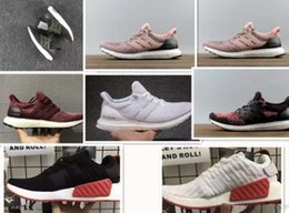 Wholesale Classic Walking Shoes - New Ultra Boost 3.0 Nmd R2 Classic Men & Women Fashion Casual Shoes Cheap Leather Skate Shoes Free Shipping Walking Hiking 36-45