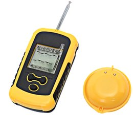 Wholesale Sonar Fish Finder Portable Fishfinder - English Menu Portable Wireless Fishfinder AAA Batteries Sensor 125 kHz Sonar Echo Sounder Waterproof Fish Finder