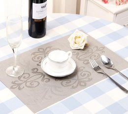 Manteles individuales online-Impresión de la manera PVC Placemat 9 Estilo Coasters Almohadillas Mesa de Comedor Estera de Aislamiento Térmico Dining Table Mat manteles de Silicona Mat