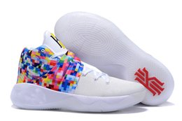 Wholesale Summer Rainbow - (With Original Box)Free Shipping Kyrie 2 Rainbow Mens Basketball Shoes Sports Sneakers