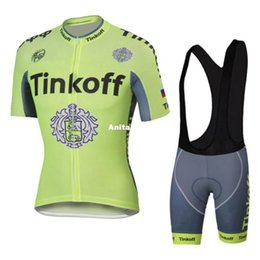 Wholesale Tinkoff Suit - Tour De France Cycling jersey 2016 Short Sleeve Clothing Set Tinkoff Fluo Light Bicycle Men Wear Suit Jersey Bib Shorts Size XS-4XL