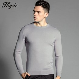 Wholesale Merino Wool Cashmere - Wholesale-HS Free Shipping Autumn Winter Soft Warm Sweater Men 100% Real Cashmere Sweaters Merino Wool Pullover Men O-Neck Pull Homme 6302
