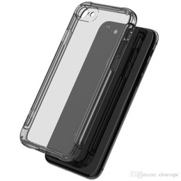 Wholesale Transparent Shockproof Iphone Bumper - For Smasung Galaxy S8 plus bumper silicone case with four corners shockproof drop protective cover for iPhone X 6S 7 8 Plus