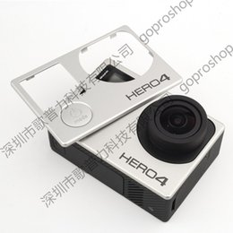 Wholesale Cam Accessories - Gopro action cam accessories hero 4 panel free shipping plastic cover buttons protective cap hoods housings