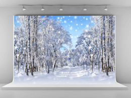 Wholesale Paint For Trees - Winter Photography Backdrops Frozen Snow Backgrounds for Photo Studio 7x5ft Tree Christmas Backdrops Shooting for Wedding