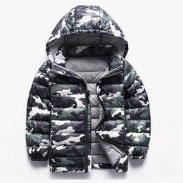 Wholesale Duck Jacket Girl - Children Jackets Winter Boys Coats Camouflage Down Jackets For Kids Girls Children Clothing winter-clothing