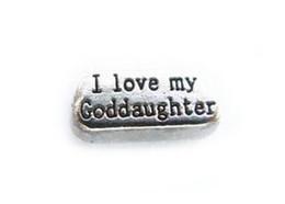 diy pc 2018 - (20, 50)PCS lot i love my Goddaughter DIY Alloy Floating Locket Charms Fit For Magnetic Living Memory Locket Pendant