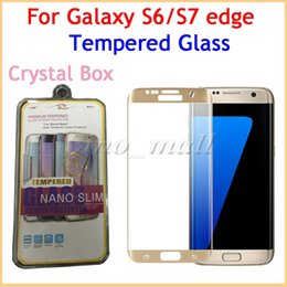 Wholesale Cheapest Crystal Glasses - Cheapest Crystal Retail Box For Samsung S7 Note7 Tempered Glass Screen Protector Anti-scratch Curved Front Cover For Galaxy S6 S7 edge