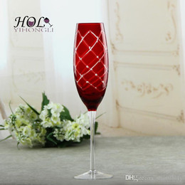 Wholesale Drinking Glassware - Red colored decorative drinking glassware