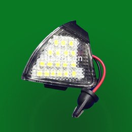 Wholesale Jetta White Bulbs - 2PC X dahosun LED Mirror light for VW Golf5 2004-2009 EOS 2006 Golf5 Plug 2005-2011 for Jetta Passat 2006-2011