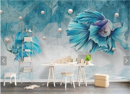 Wholesale Chinese Silk Jewelry Roll - 3D Abstract Stripe Line Guppy Wallpaper Diamond Jewelry Background Wall Murals HD Photo Wallpapers Rolls Wall Art Decor Custom