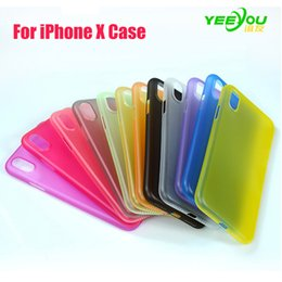 Wholesale Iphone Black Protector - For iphone X Case Ultra-thin Silicone Transparent Environmental protection PP material Protector Cover Colorful for iphone 8 7plus 6S