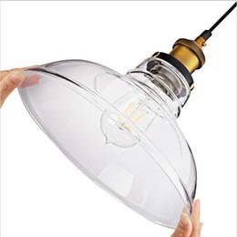 Wholesale Vintage Glass Hanging Lamps - 2016 new arrivals American Industrial Pendant Light Vintage Glass Pendant Light Hanging Lights Bar Cafe Lamps Fixtures