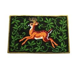 Canada Renne Elk en forme de tapis crocheté à la main tapis de porte Living, tapis anti-dérapant porche brodé Tapis tapis de cuisine tapis cadeau de Noël cheap elk live Offre