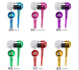 la cuffia della chiusura lampo dell'orecchio del jack Sconti Auricolare Zipper Headset 3.5mm Jack Bass Auricolari In-Ear Zip Cuffie per Iphone Samsung Phone PC MID MP3 MP4 Player con pacchetto