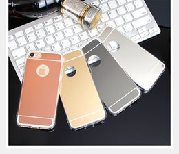 Wholesale Soft S4 Case - Mirror Case Electroplating Chrome Soft TPU Case Cover FOR IPHONE 8 Galaxy S8 S8 PLUS S7 S7 EDGE S4 S5 S6 S6 EDGE A3 A5 A7 2017 NOTE 8 100PCS
